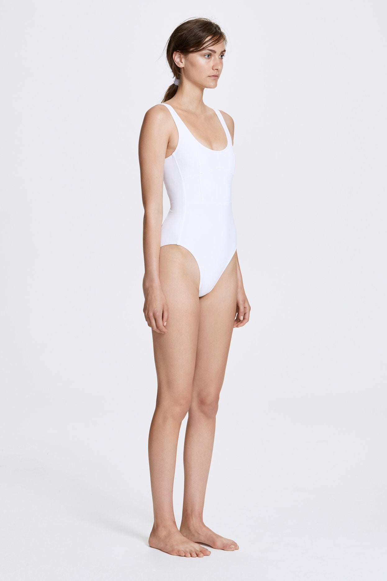 Her Line Marni Swimwear One Piece Milk White Side 1
