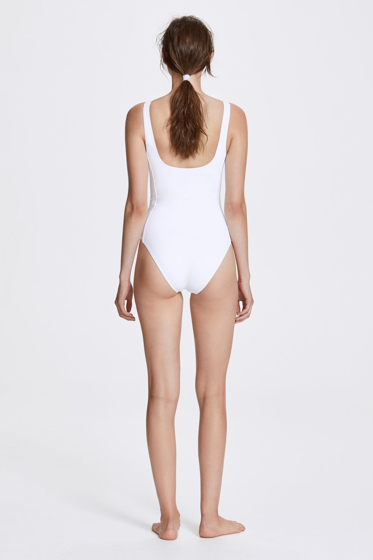 Her Line Marni Swimwear One Piece Milk White Back