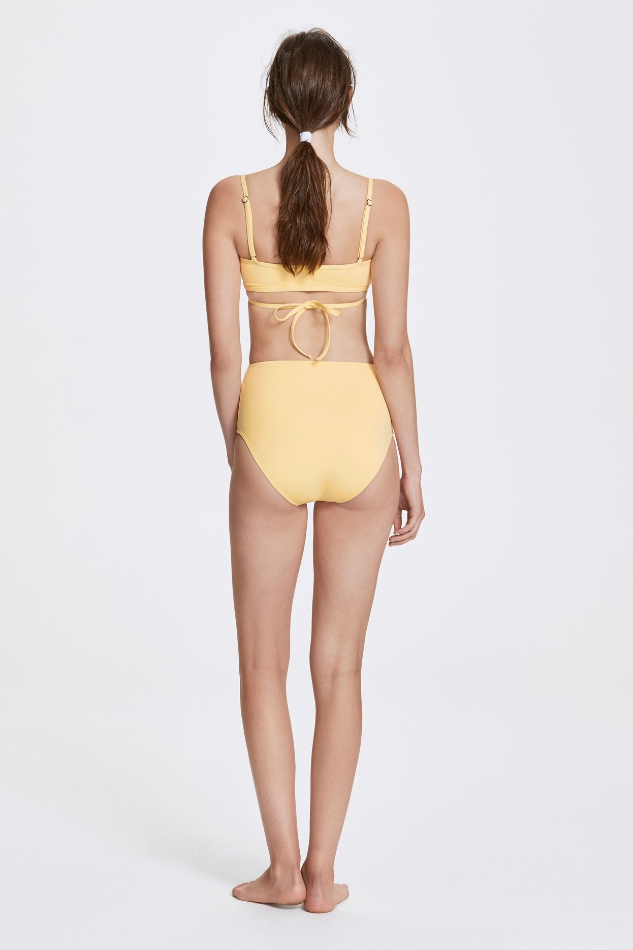Her Line Rei Swimwear Set Butter Yellow Back