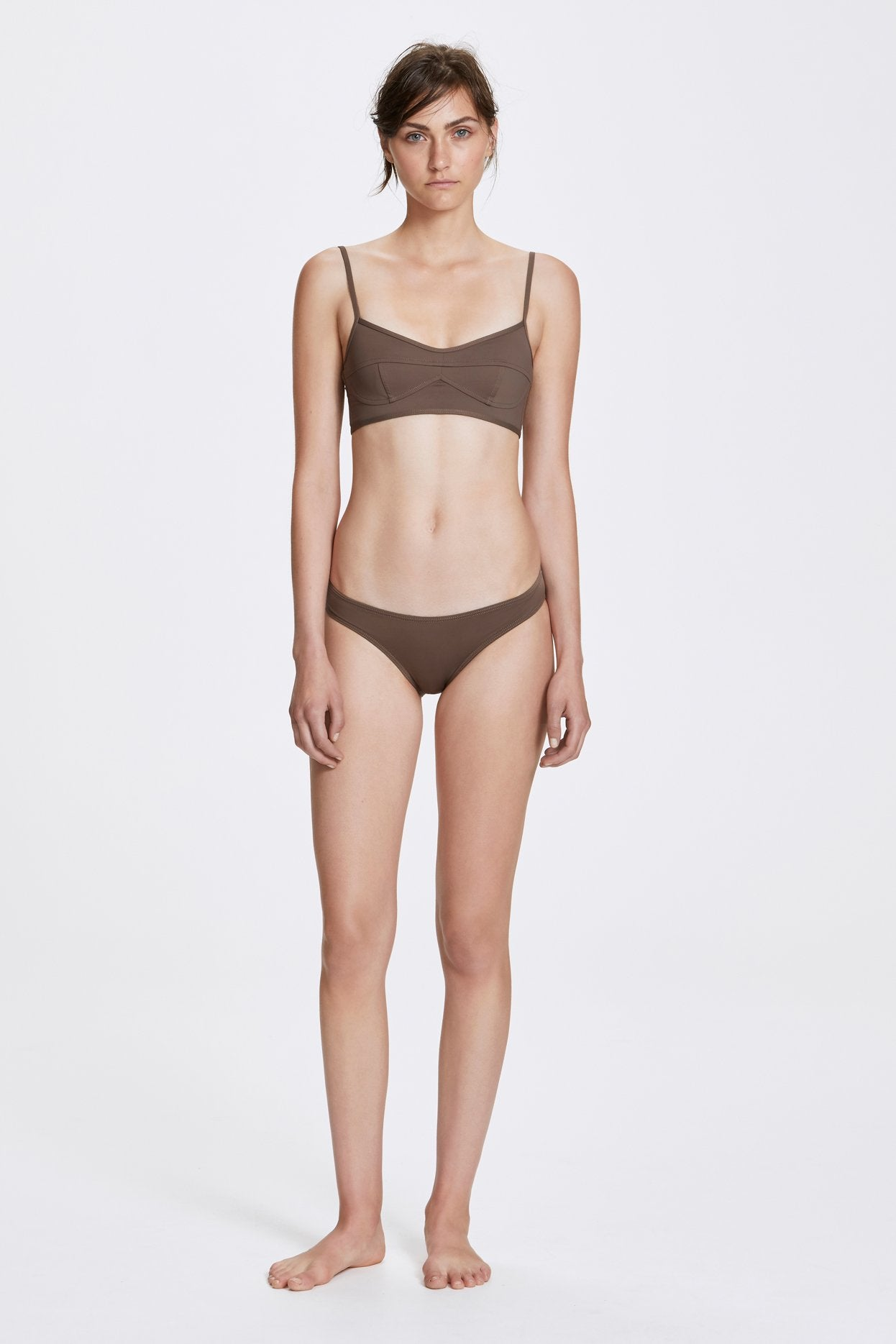 Her Line Suzi Swimwear Set Terra Brown Front