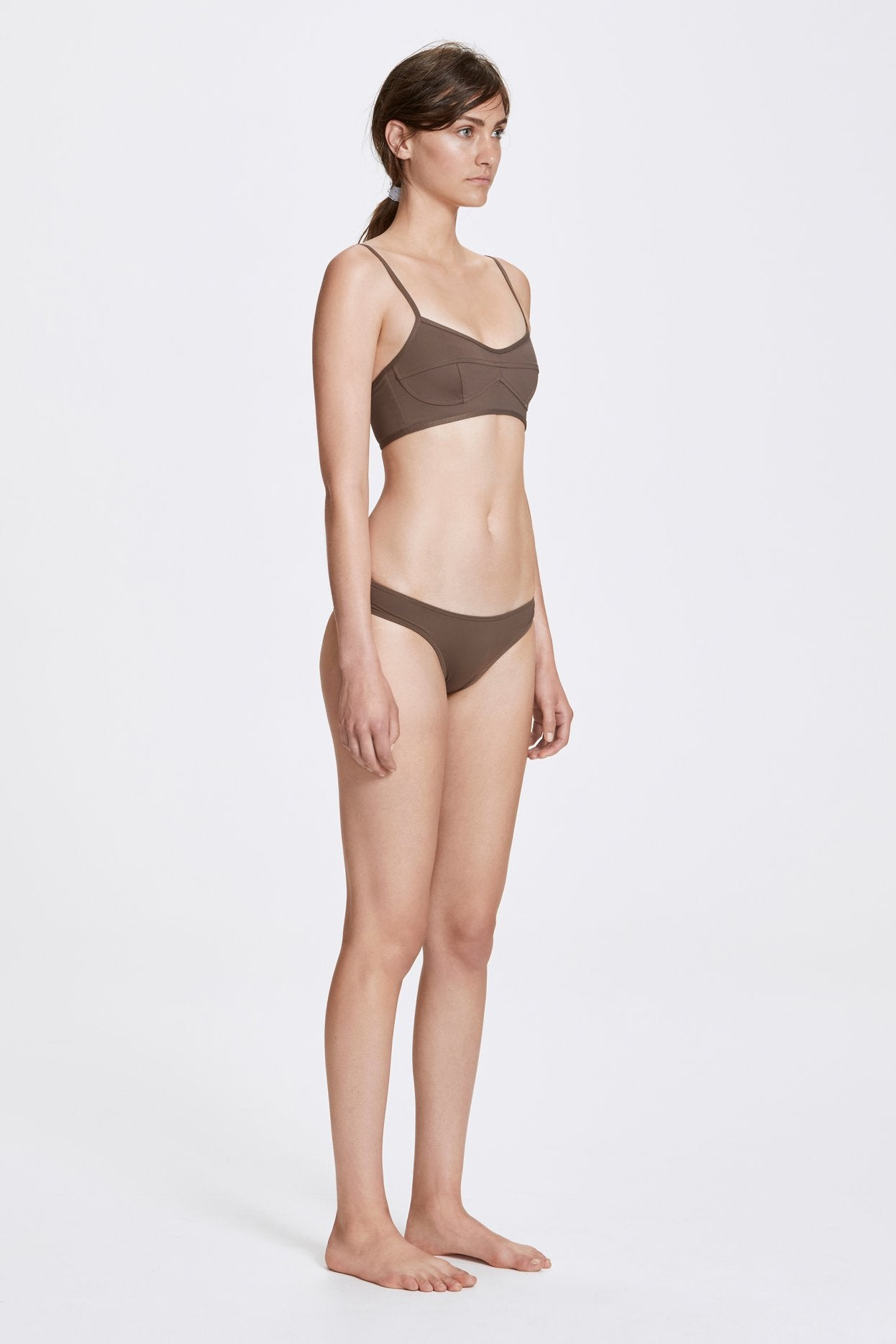 Her Line Classic Low Swimwear Brief Terra Brown Side