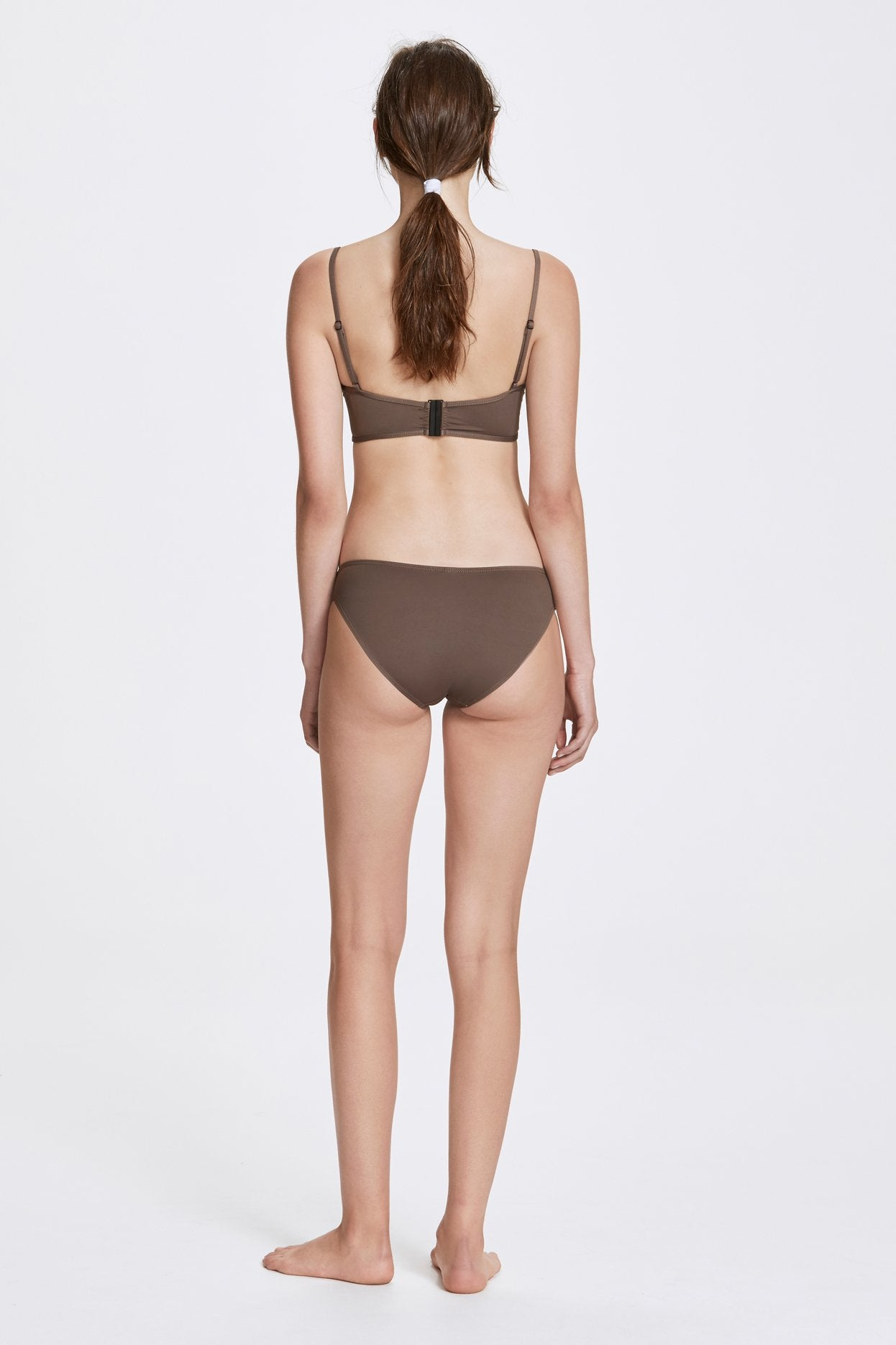 Her Line Classic Low Swimwear Brief Terra Brown Back