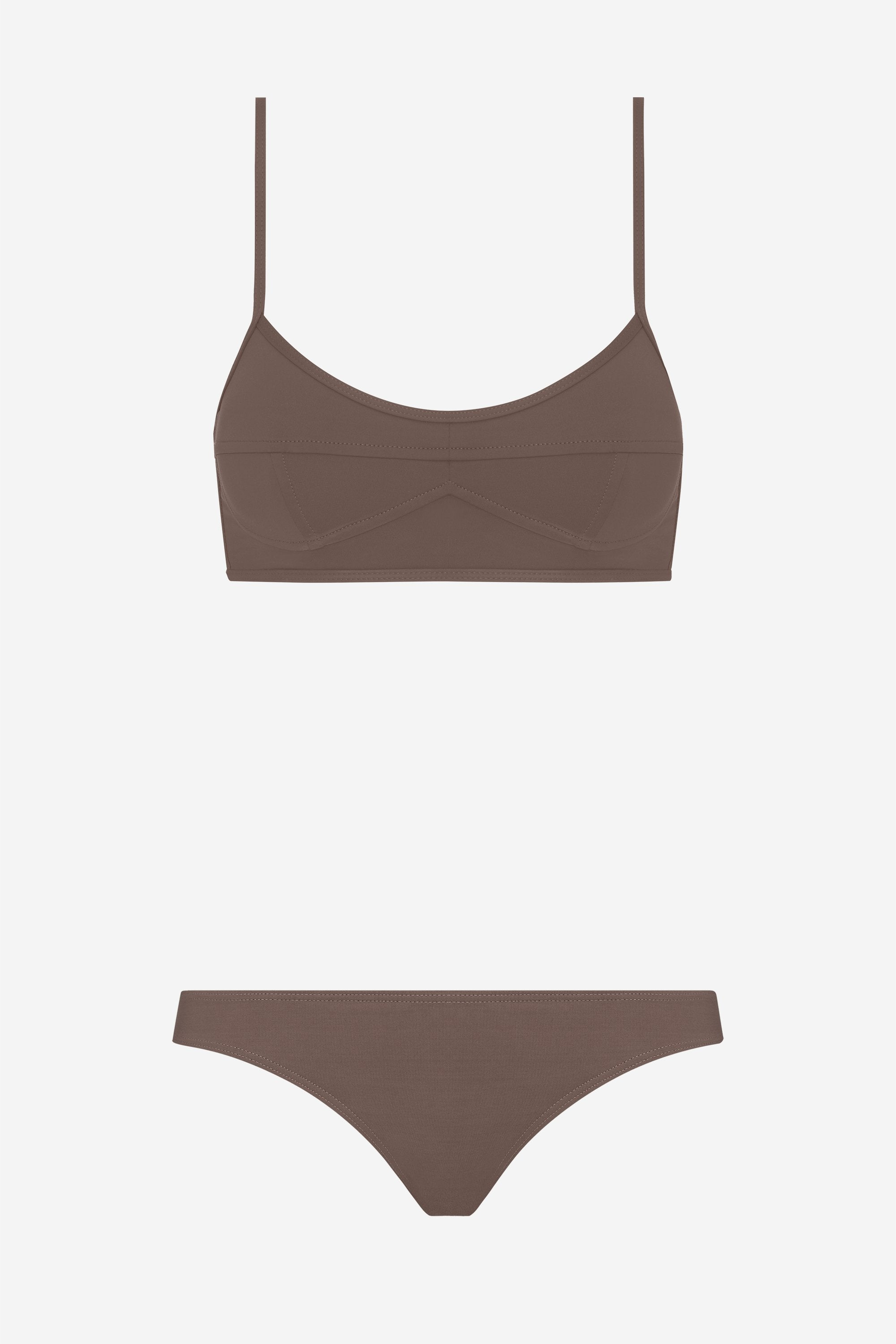 Suzi two-piece set - Terra brown - Swim two piece - Her Line