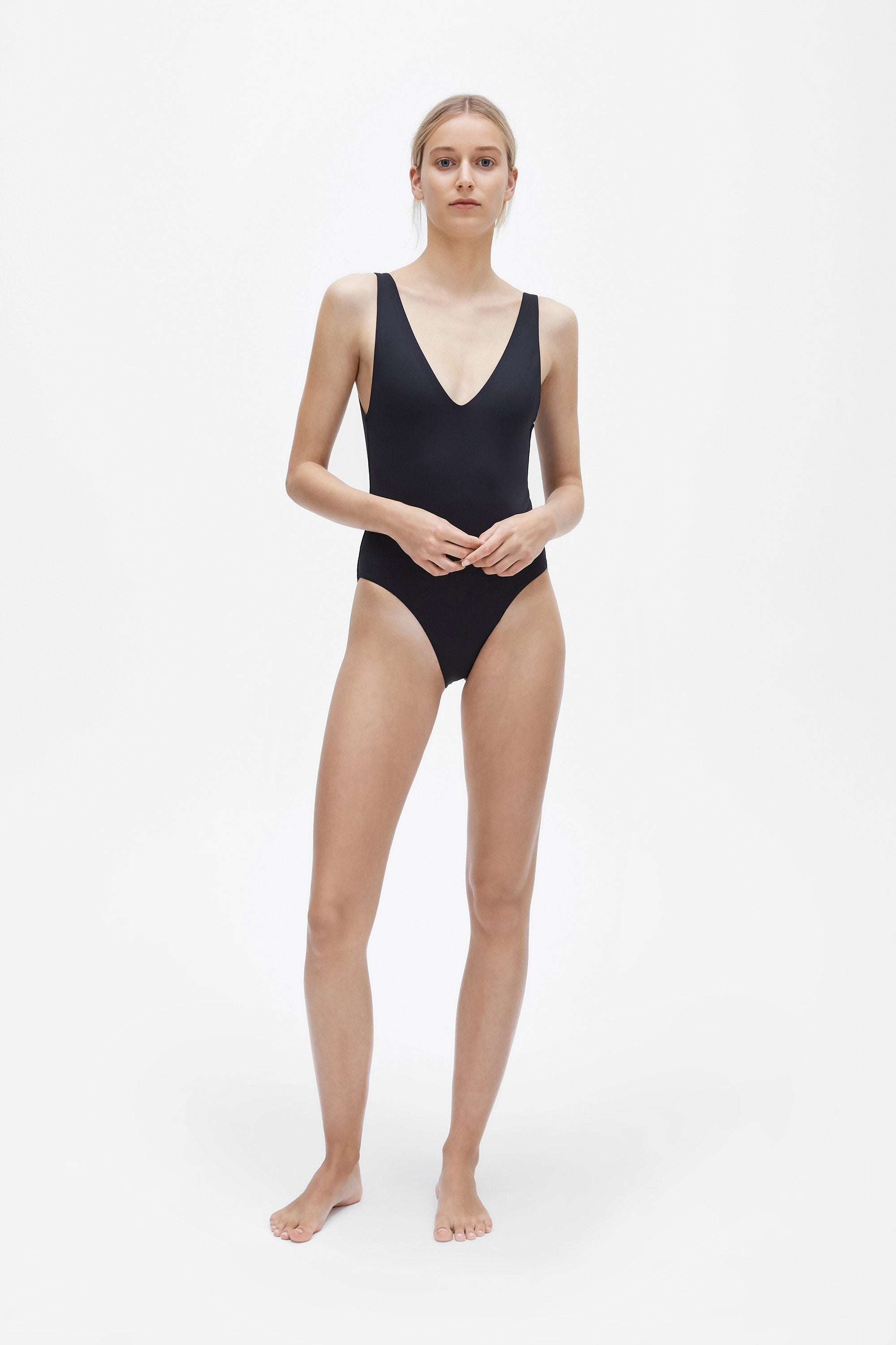 Ester one-piece - Coal black - Swim one piece - Her Line