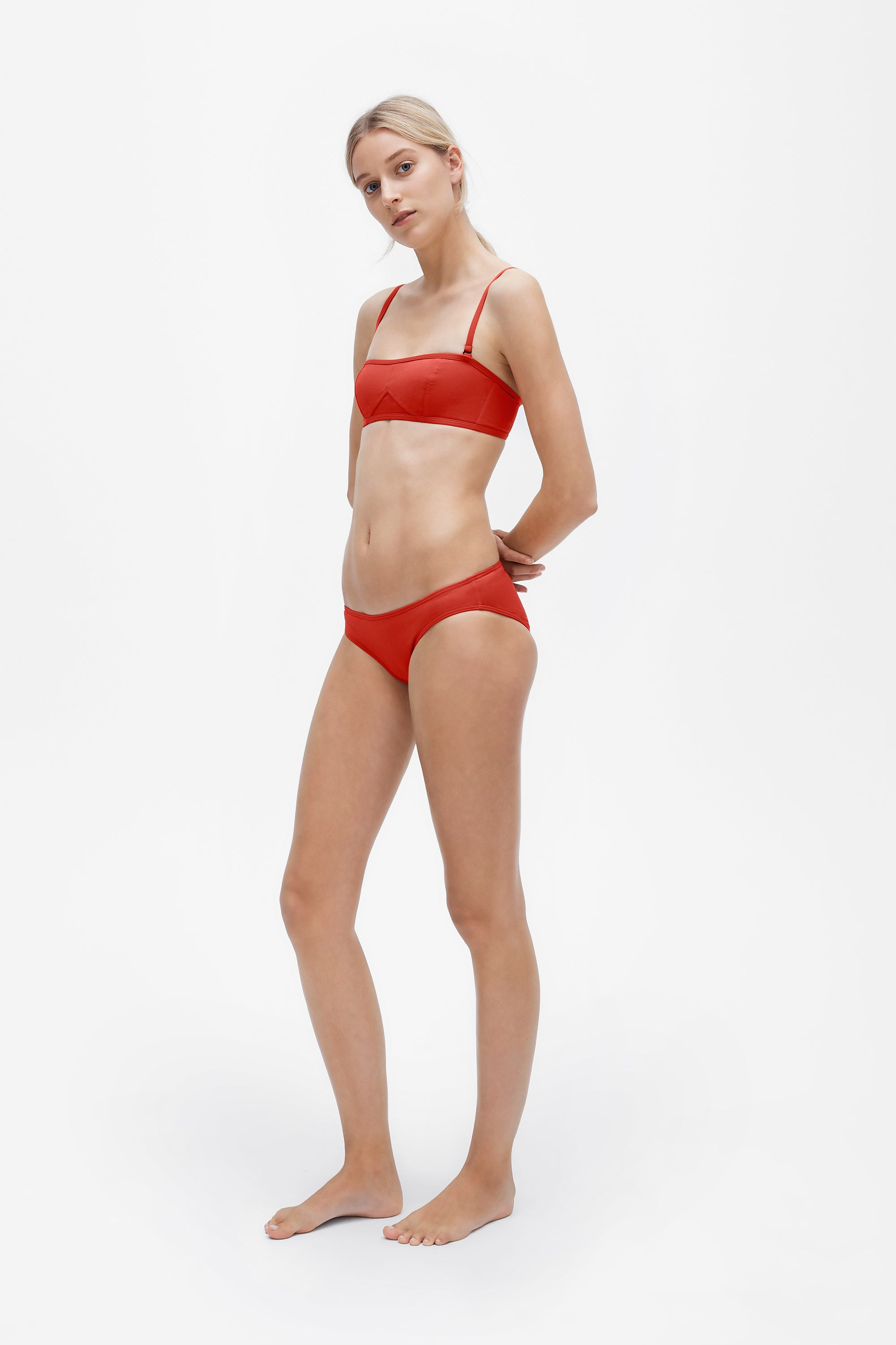 Lily top - Lava red - Swim top - Her Line