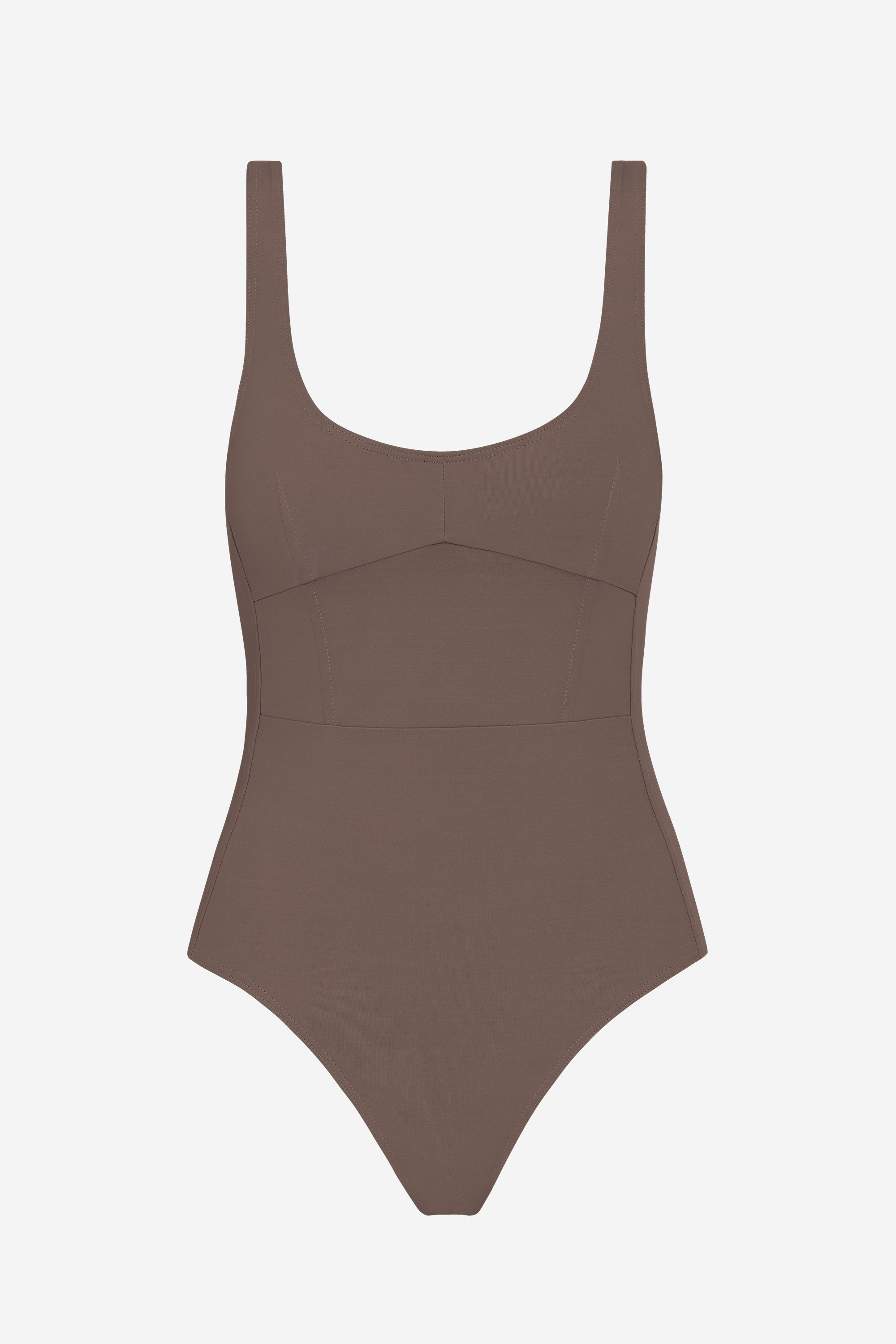 Marni one-piece - Terra brown - Swim one piece - Her Line