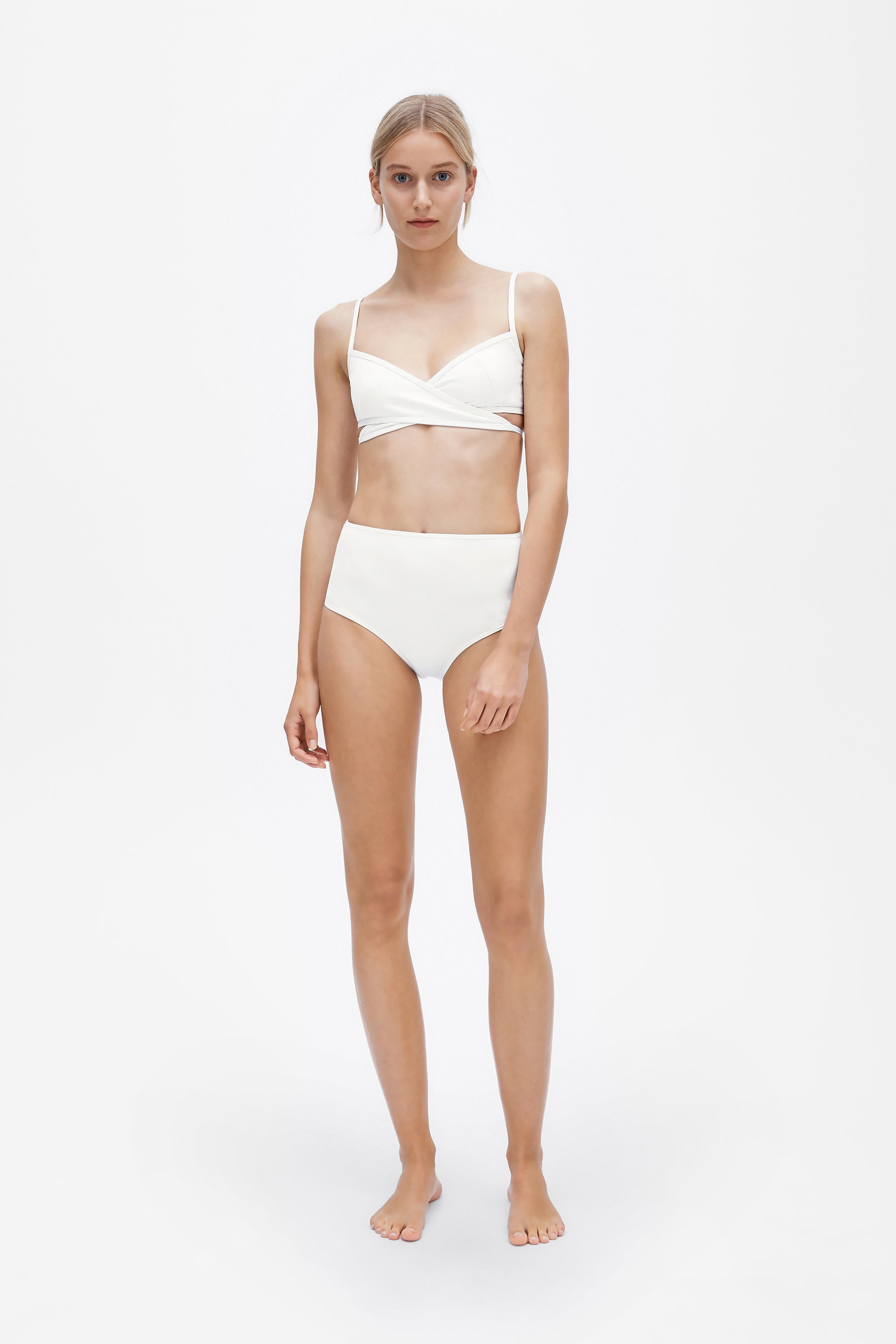 Classic high brief - Milk white - Swim brief - Her Line