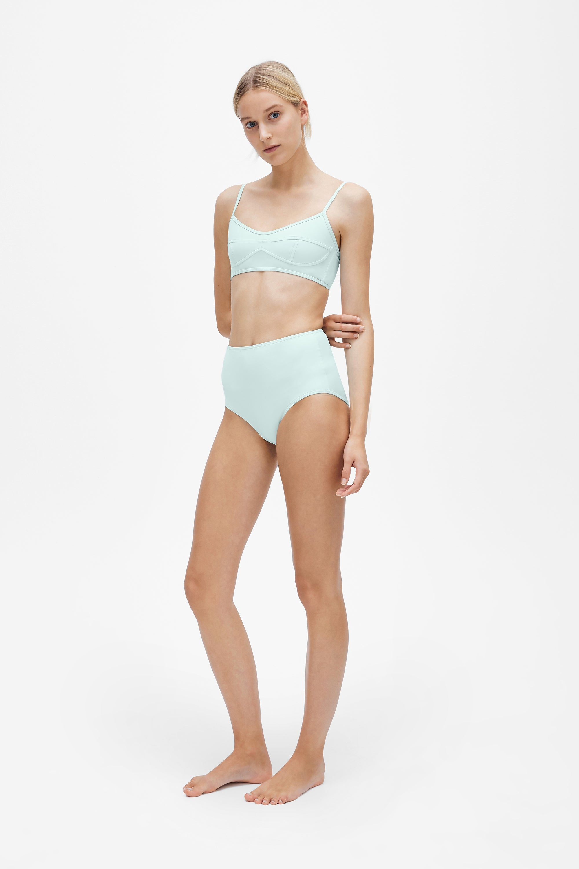 Suzi top - Cool mint - Swim top - Her Line