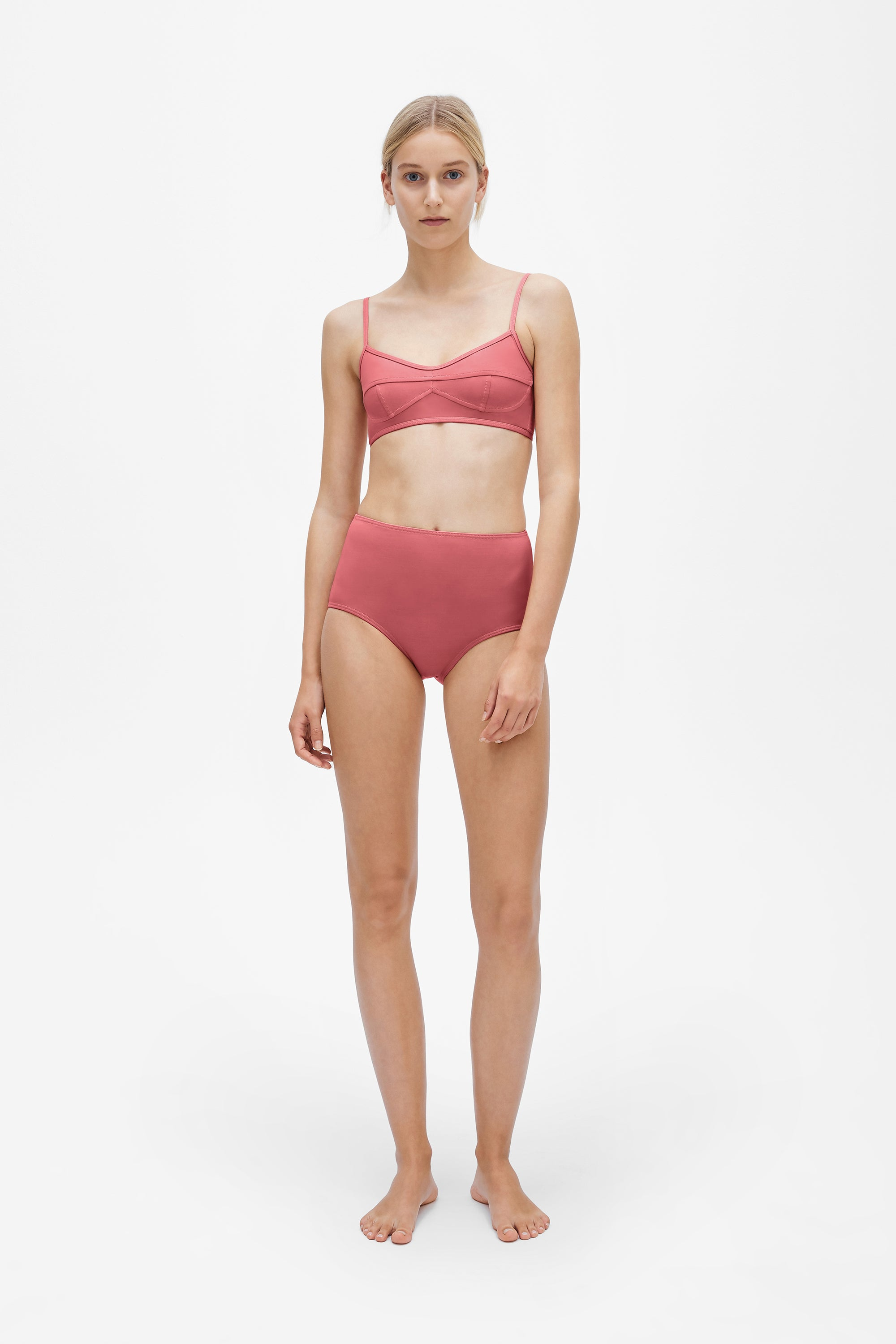 Suzi top - Dusted pink - Swim top - Her Line