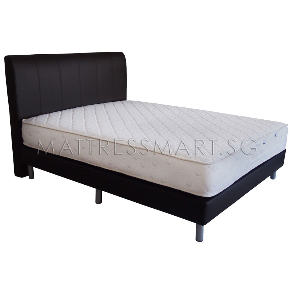 Magic Koil Posture Perfect Mattress with Romeo Flat Back Bed Frame (MK12) Package