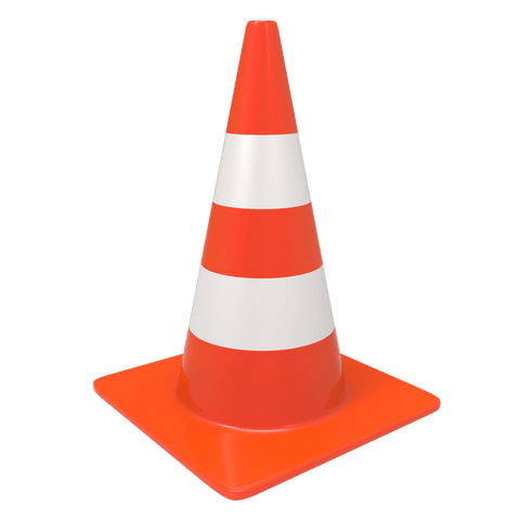 Plastic Traffic Cone - Hire-it Technologies