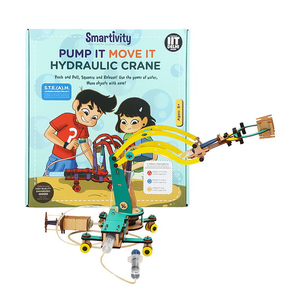 Smartivity Pump It Move It Hydraulic Crane S.T.E.M. Educational D.I.Y. Toy - Hire-it Technologies