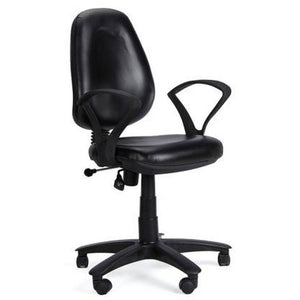 Revolving Ergonomic Office Chair Executive Leatherette Computer Chair, Easy Assamble Chair - Black