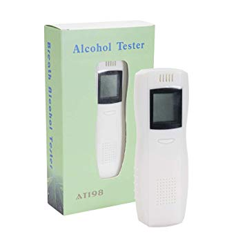 Portable Digital LCD Display Breathe Alcohol Detector  - Personal Use - Model AT 198 - Hire-it Technologies