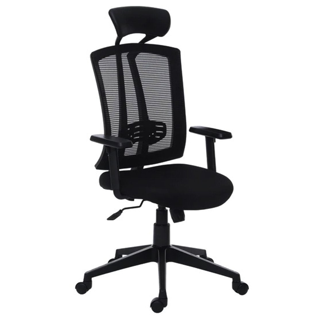 Hire-it Ergonomic Desk Chair Adjustable Revolving Chair - Black Color