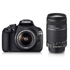 CANON EOS 1200D DUAL KIT (EF S18-55 IS II & EF S55-250 IS II) - Hire-it Technologies