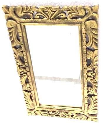 Golden Border Wooden Frame Mirror (Model: 157) - Hire-it Technologies