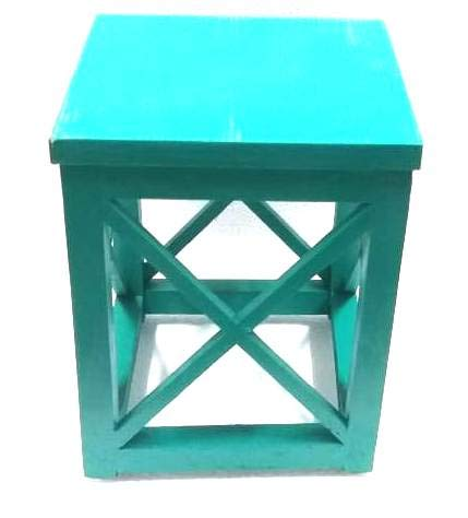 Elegant Crisscross Designed Multipurpose Side Table - Green Color (Model: 179) - Hire-it Technologies