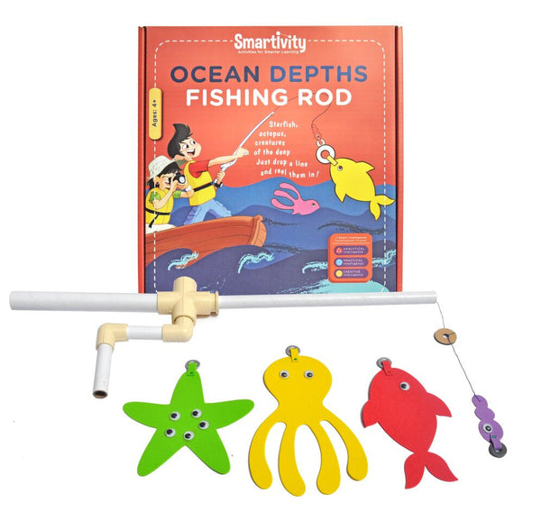 Smartivity Ocean Depths Fishing Rod S.T.E.M. Educational D.I.Y. Toy - Hire-it Technologies