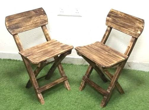 Wooden Kids Foldable Chair (Set of 2 )