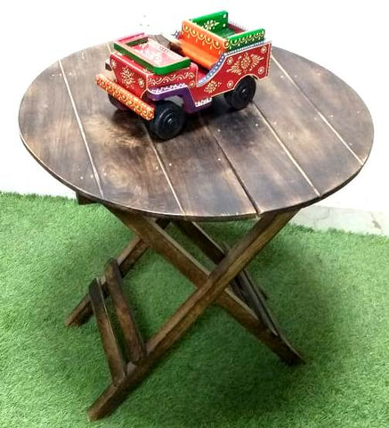 Wooden Round Foldable Table