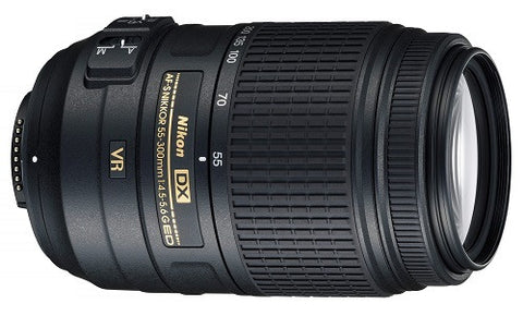 NIKON - TELEPHOTO ZOOM 55-300 MM VR F/4.5 - 5.6 G ED AF-S DX LENS - Hire-it Technologies