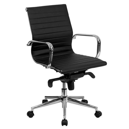 Revolving Chair with Central Tilt Slim High Back Support for Office Purpose (RC-102)