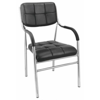 Office Chair with Arms & Backrest Support for All Purpose Chair (Black)
