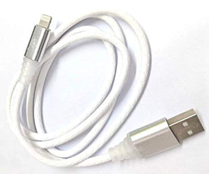 Lightning Port - USB 2.0  - White -LED- 1 Meter- 480 Mbps Transfer Speed - Hire-it Technologies