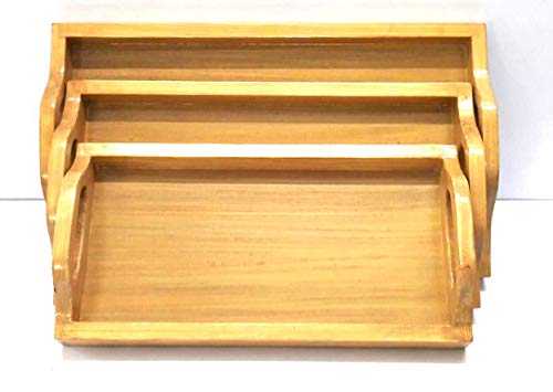 German Safrus Wooden Serving  Tray  - Set of 3 (Model: 165) - Hire-it Technologies