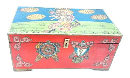 Madhubani Style Wooden Sandook (Model: 167) - Hire-it Technologies
