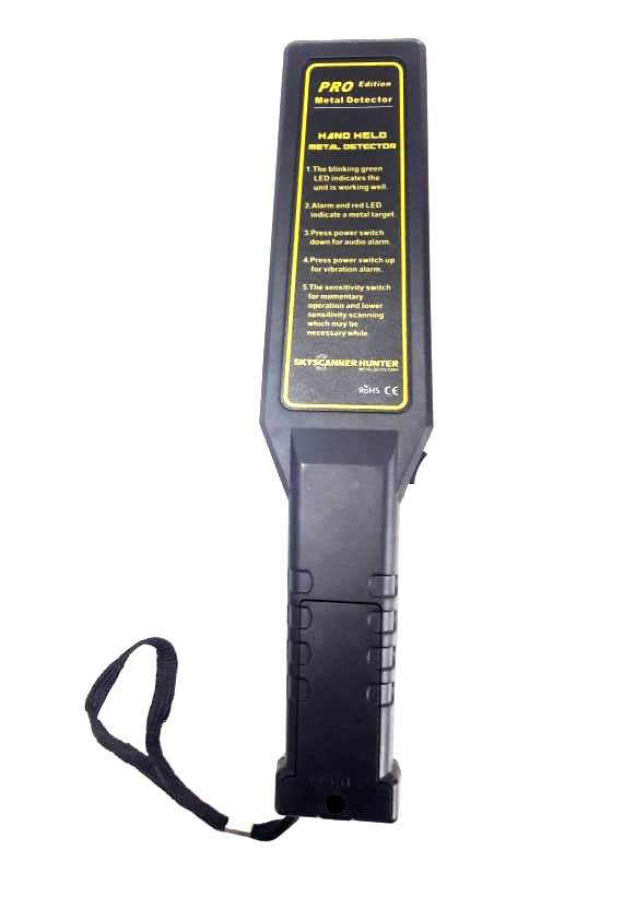 Hire - it Hand Held Metal Detector - Matex - G Graph - Rechargeable with vibration with bar graph to indicate size of metal - Hire-it Technologies