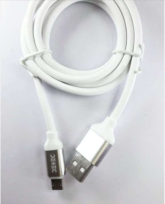 4 Amp Super Fast Charging Micro USB Cable - USB 2.0 Type Data Cable - White -1 Meter - 480 Mbps Transfer Speed - Hire-it Technologies