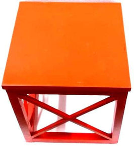 Elegant Crisscross Designed Multipurpose Side Table Blue, Orange & Turquoise  Color - Set of 3 (Model: 232) - Hire-it Technologies
