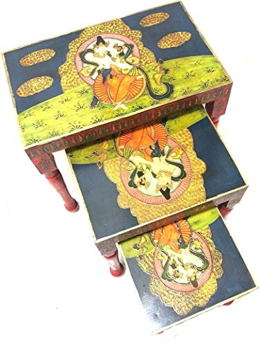 Tibetan Style - Set of 3 Nesting Table (Model: 171)