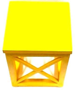 Elegant Crisscross Designed Multipurpose Side Table - Yellow  Color (Model: 233) - Hire-it Technologies