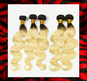 #613 BLONDE / 1B ROOT-MALAYSIAN ( STRAIGHT OR BODY WAVE)