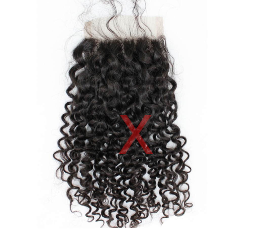 CLOSURES 4 X 4 - INDIAN CURLY