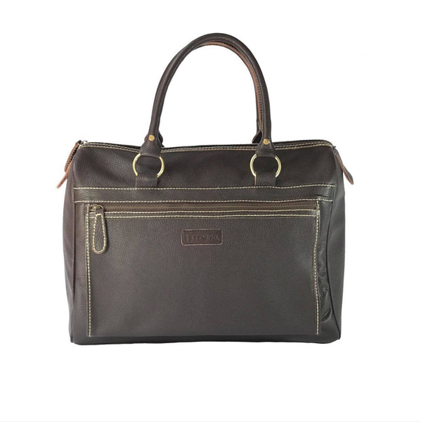 The Curt Weekender Brown Leather Bag