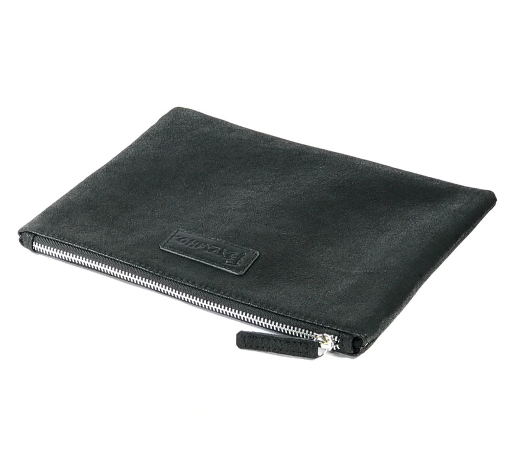 Plain Black Leather Clutch