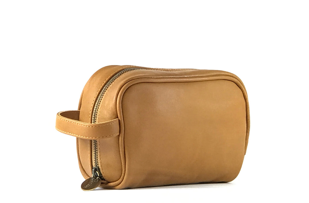 """Vega"" Tan Small Travel Bag"