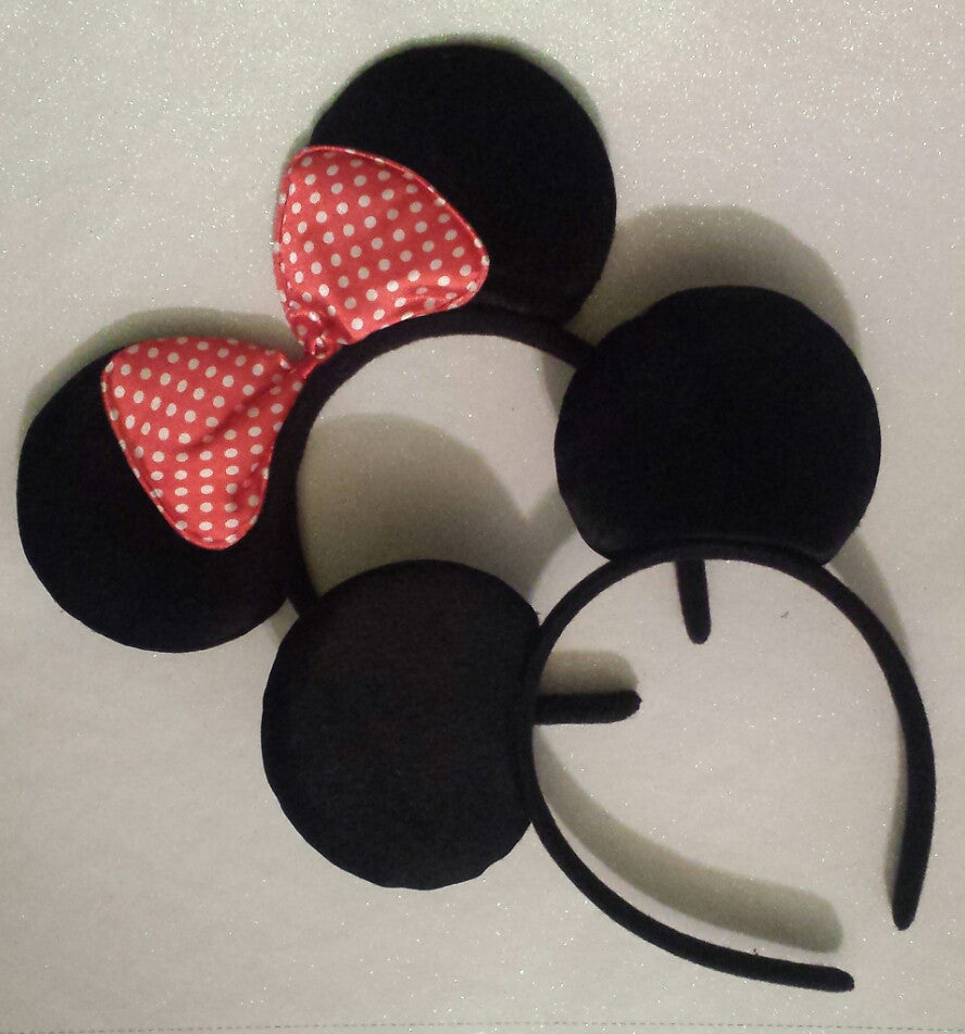 Girl Mouse or Boy Mouse Ears Headband - Super Capes and Tutus, Headbands, [product_tags], Super Capes and Tutus