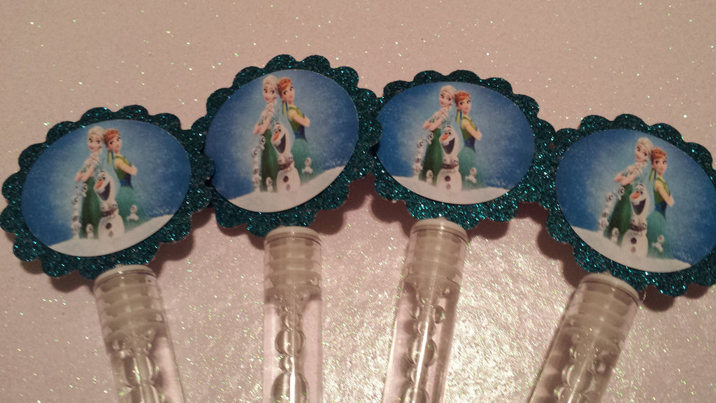 Frozen Fever Inspired Bubble Wands/ Birthday Party/ Party Favors - Super Capes and Tutus, Bubble Wands, [product_tags]