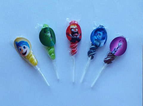 10 Custom Inspired Disney's Inside Out Unicorn Lollipops - Super Capes and Tutus, Lollipops, [product_tags]