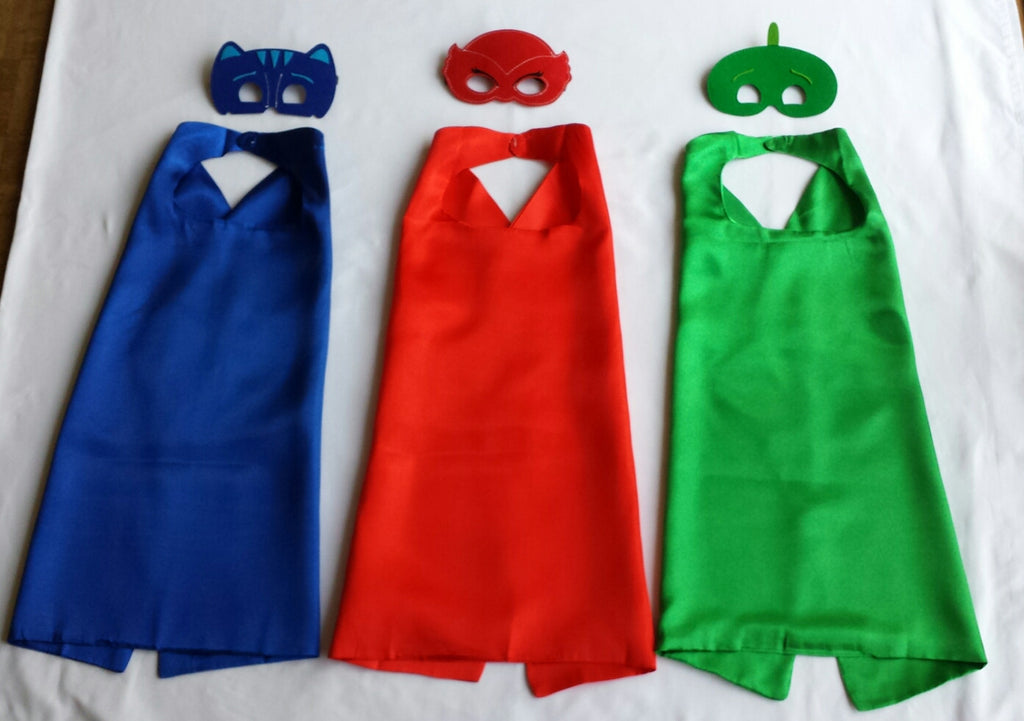 Disney Inspired PJ Mask Superhero Cape and Mask Set - Super Capes and Tutus, Superhero Capes, [product_tags]