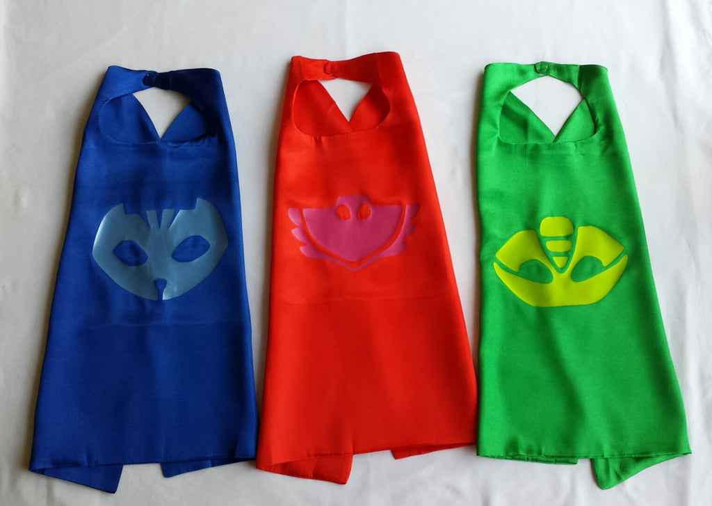 Disney Inspired PJ Mask Superhero Cape with Logo - Super Capes and Tutus, Superhero Capes, [product_tags]