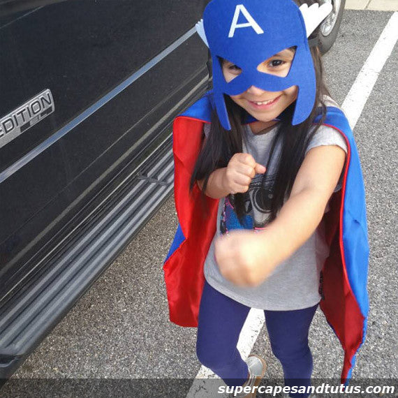 Captain A Superhero Cape and Mask - Super Capes and Tutus, Superhero Capes, [product_tags], Super Capes and Tutus