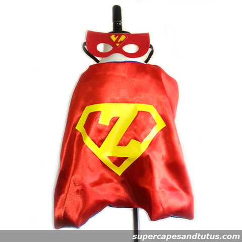 Customized Superhero Cape with Childs Initial in Shield