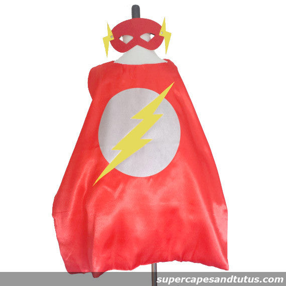 Super Lightning Superhero Cape and Mask - Super Capes and Tutus, Superhero Capes, [product_tags], Super Capes and Tutus