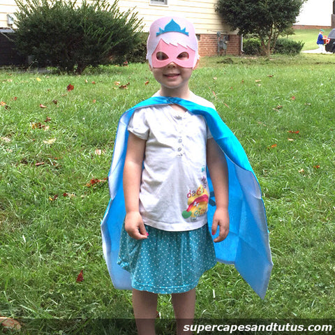 Ice Princess/ Snowflake Cape and Mask - Super Capes and Tutus, Superhero Capes, [product_tags], Super Capes and Tutus